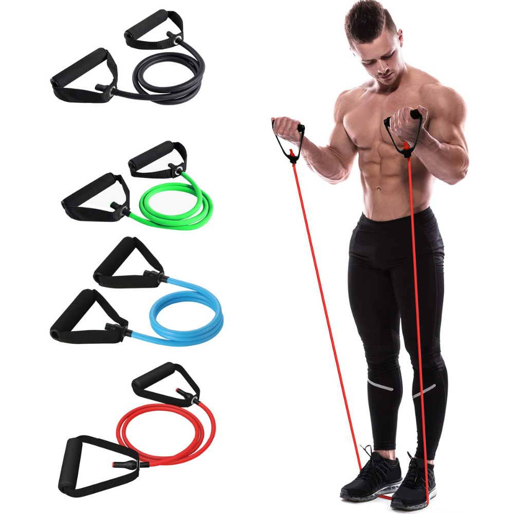 120cm Yoga Pull Rope Elastic Resistance Bands Fitness